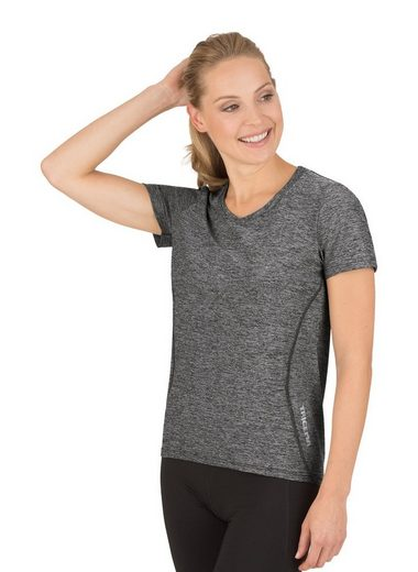 Trigema Sportshirt in Melange-Optik