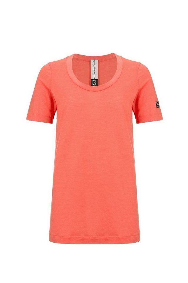 SUPER.NATURAL Oversize-Shirt »W OVERSIZE TEE« | Bekleidung > Shirts > Oversize-Shirts | Orange | Ab - Jersey - Wolle - Polyester | SUPER.NATURAL