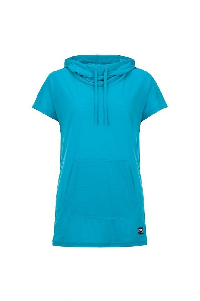 SUPER.NATURAL Kapuzenshirt »W FUNNEL TEE« | Bekleidung > Shirts > Kapuzenshirts | Blau | Wolle | SUPER.NATURAL