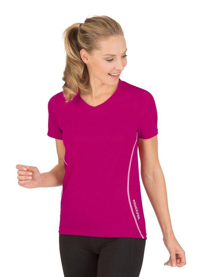TRIGEMA Sportshirt COOLMAX® | Sportbekleidung > Sportshirts | Rot | Polyester | Trigema