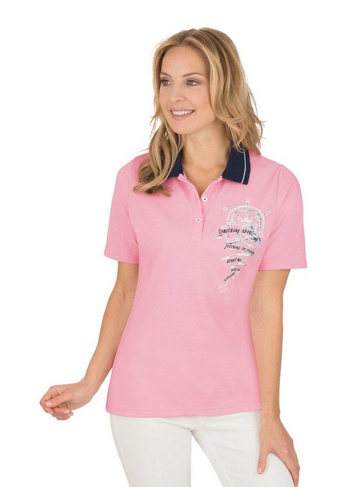 TRIGEMA Poloshirt mit Ringelstrickkragen kaufen   OTTO f5a402c944