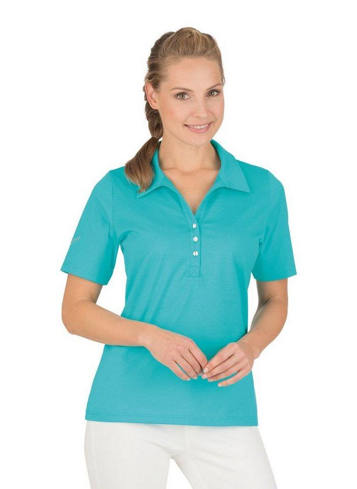 TRIGEMA Poloshirt aus Baumwolle mit Swarovski® Kristallen online ... 10eedbde78
