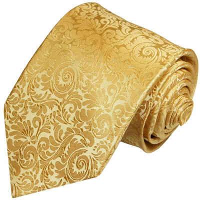 Paul Malone Krawatte »Herren Seidenkrawatte elegant barock 100% Seide« Breit (8cm), gold 902
