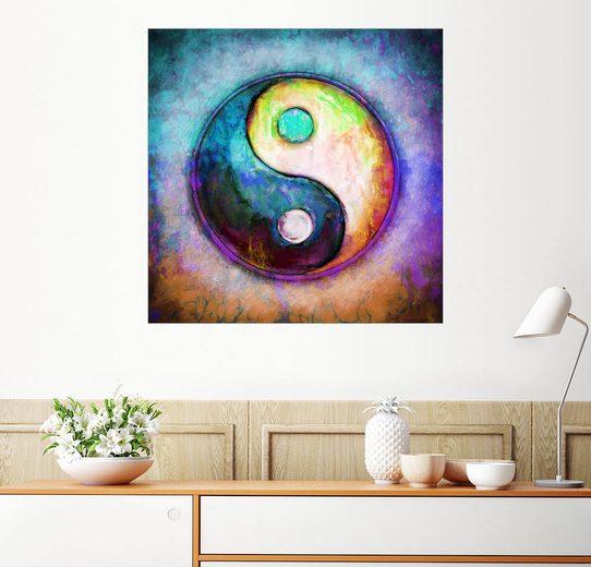 Posterlounge Wandbild - Dirk Czarnota »Yin Yang - Colorful Painting 5«