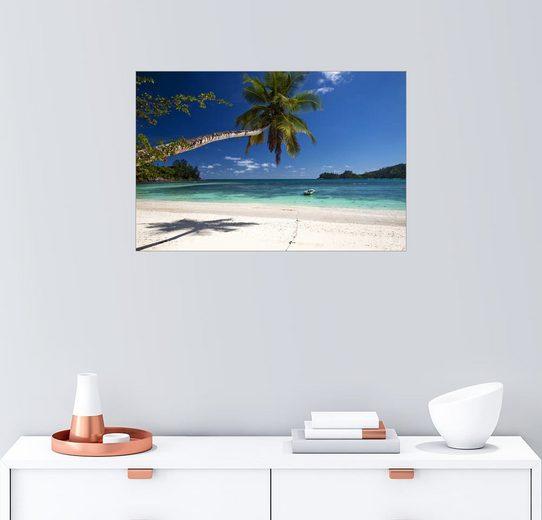 Posterlounge Wandbild - Mayday74 »Paradisischer Strand auf den Seychellen«