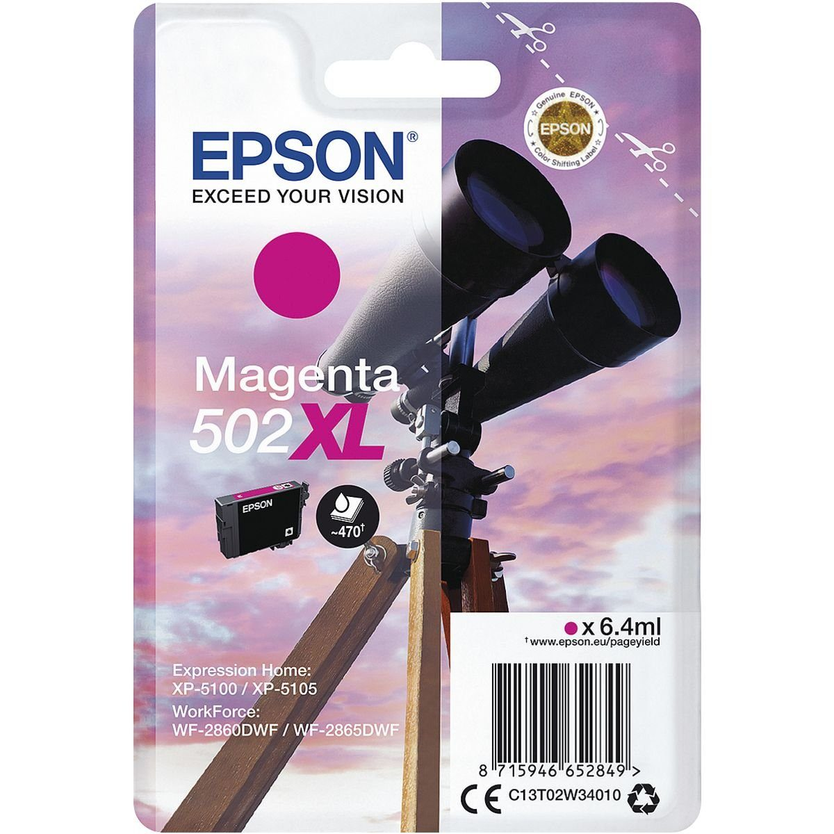 Epson Tintenpatrone »502XL«