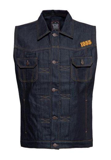 KingKerosin Jeansweste »RnR Rebel« im Vintage-Look