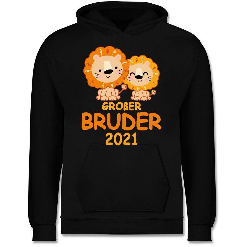 shirtracer hoodie »großer bruder 2021 mit löwen
