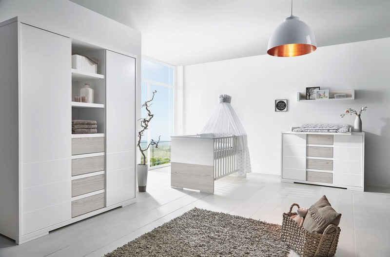Schardt Babyzimmer-Komplettset »Maxx Boathouse«, (Set, 3-St), Made in Germany; mit Kinderbett, Schrank und Wickelkommode