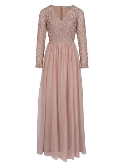 Glitzersteine abendkleid
