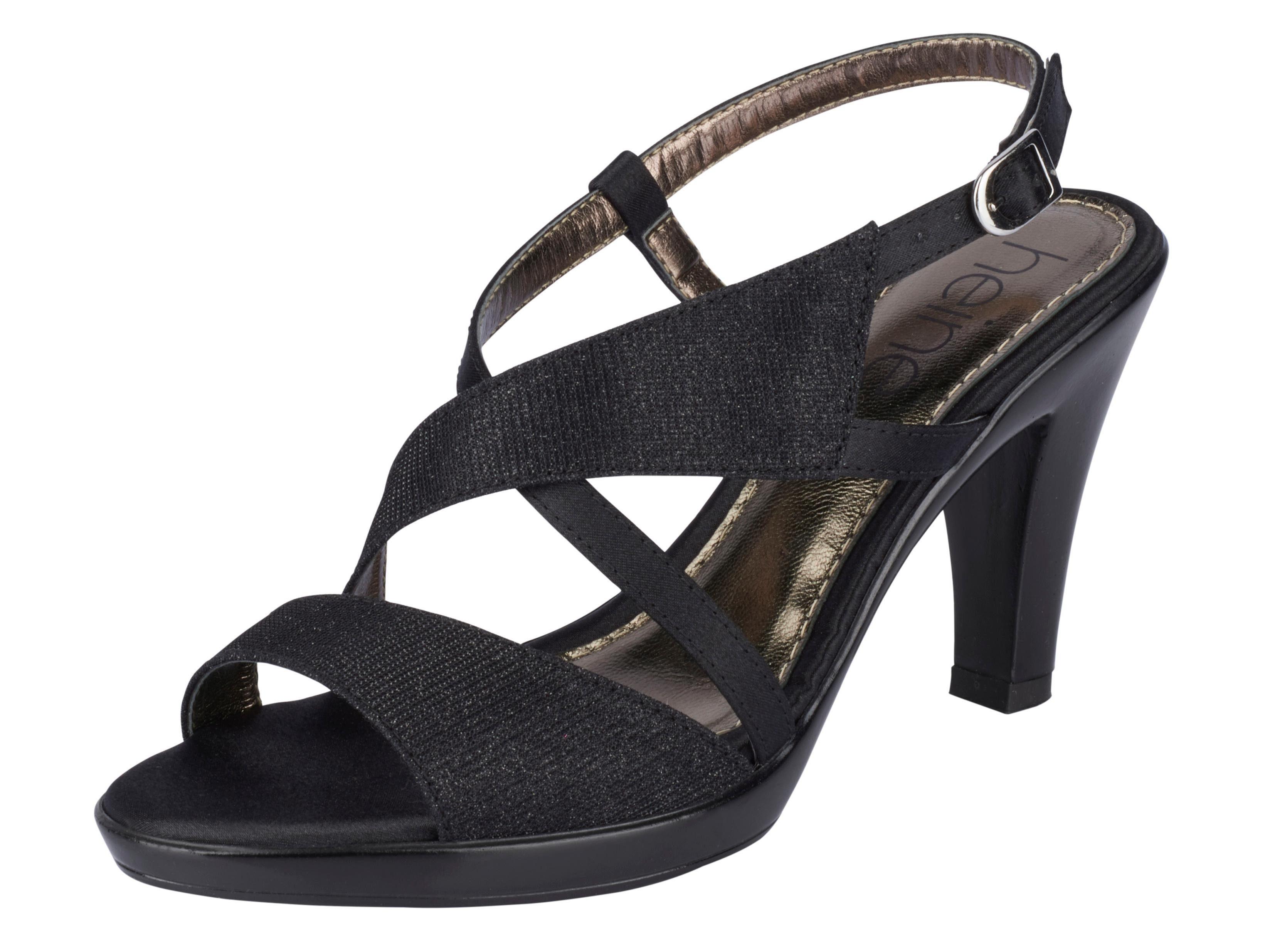 Heine Sandalette mit Glanzeffekt online kaufen  schwarz