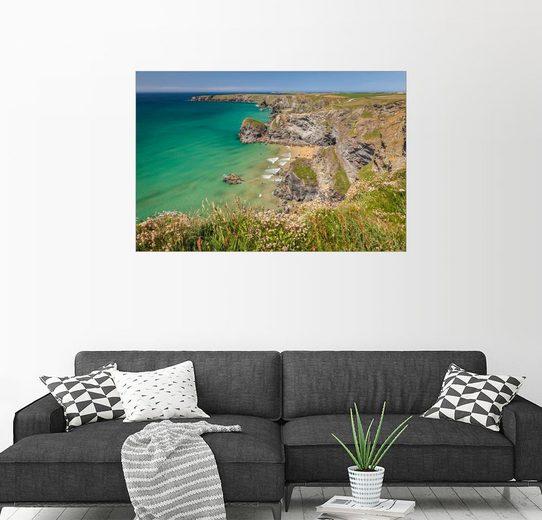 Posterlounge Wandbild - Christian Müringer »Küste Bedruthan Steps in Cornwall (England)«