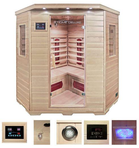 HOME DELUXE Infrarotkabine »Redsun XXL«, BxTxH: 150 x 150 x 190 cm, 40 mm, 40 mm, für bis zu 4 Personen