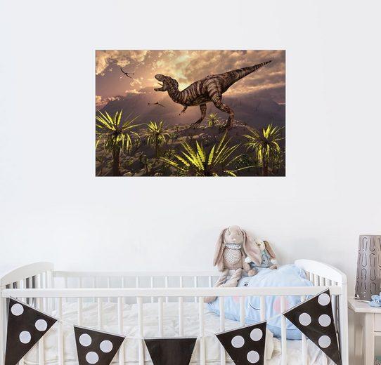 Posterlounge Wandbild - Mark Stevenson »Tyrannosaurus Rex - König der Dinosaurier«