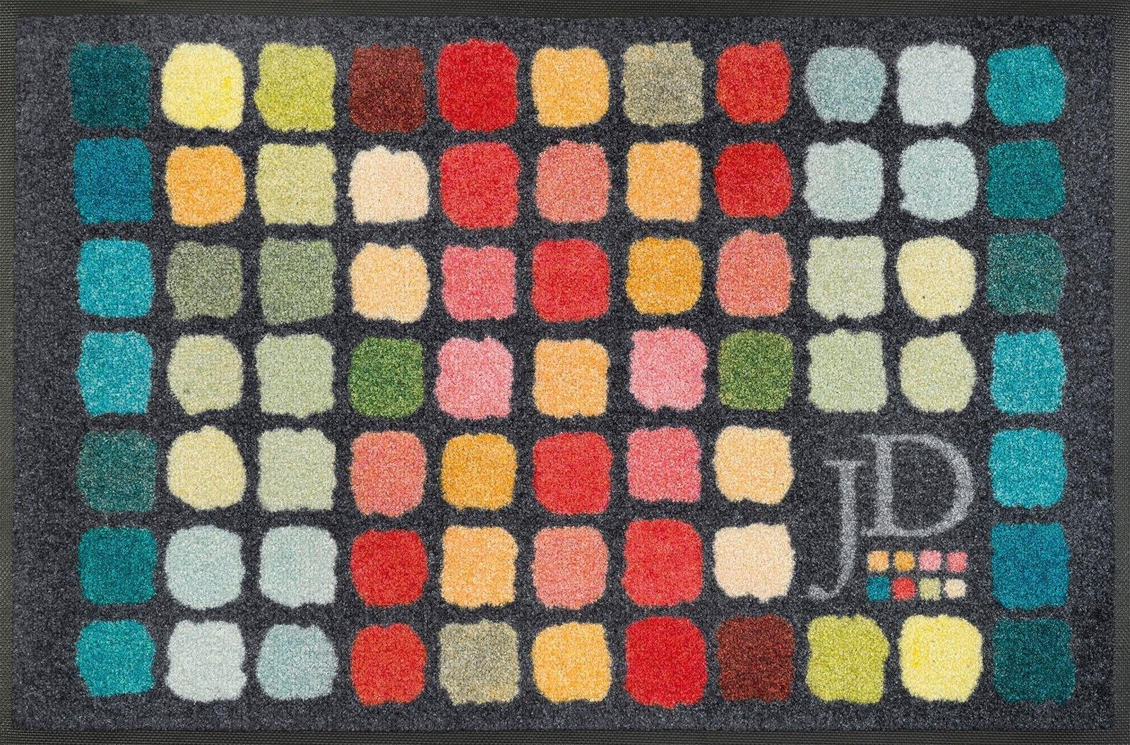 Fußmatte »Colour Palette«, wash+dry by Kleen-Tex, rechteckig, Höhe 7 mm