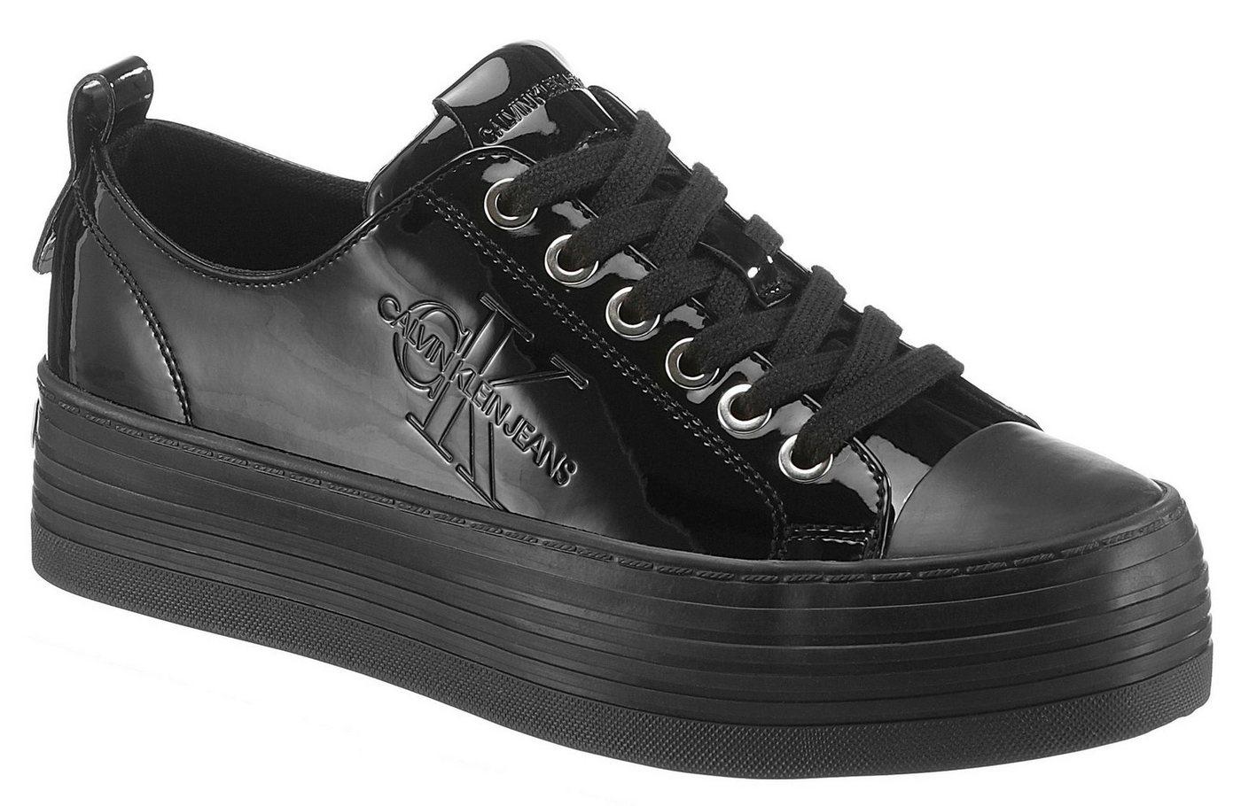 Damen Calvin Klein Zolah Sneaker mit Logoprägung schwarz   00889680166684