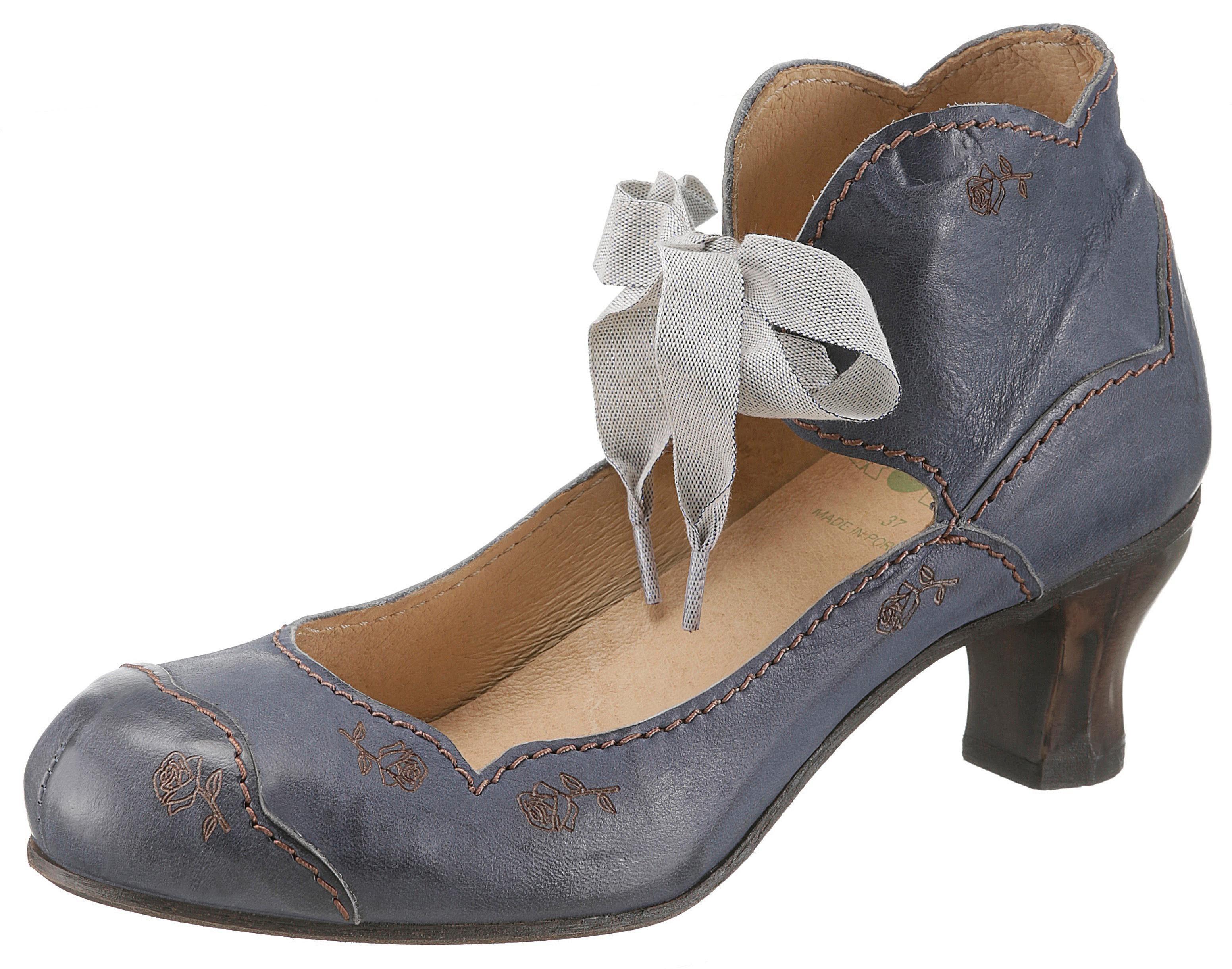 Rovers Schnürpumps, mit Kontrastnähten kaufen  jeansblau