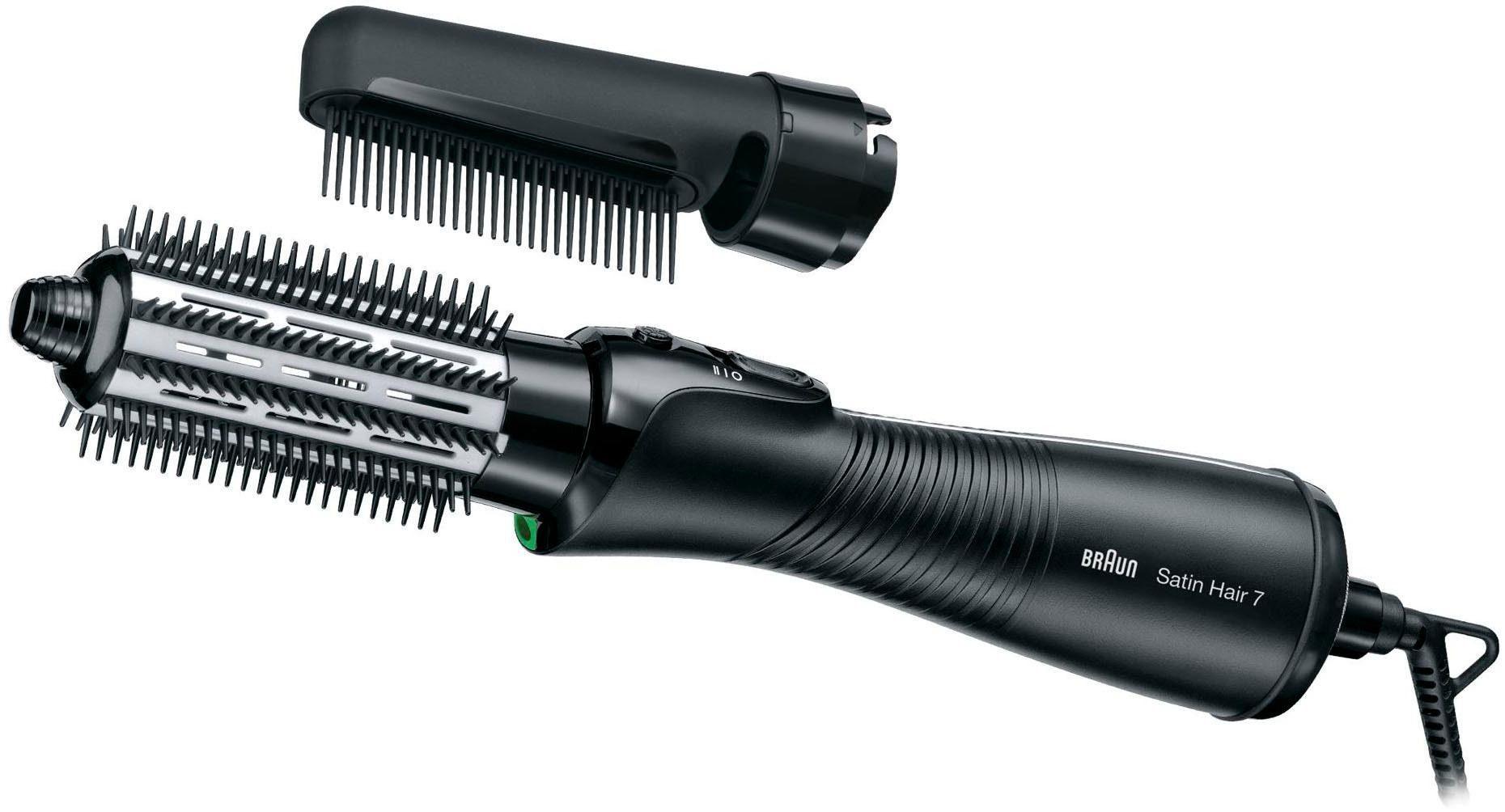 Braun Warmluft-Lockenbürste Satin Hair 7 AS720, Warmluft-Lockenbürste mit IONTEC Technologie (inklusive Kamm-und Bürstenaufsatz)