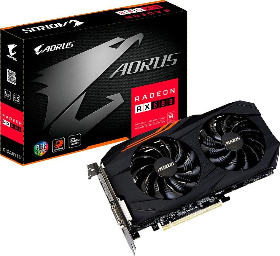 Gigabyte »AORUS Radeon RX580 8G« Grafikkarte (8 GB, GDDR5)