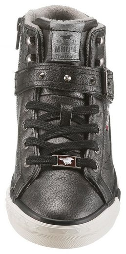 Sneaker Toller Metallicoptik Shoes In Mit Prägung Mustang wA5xpZZ