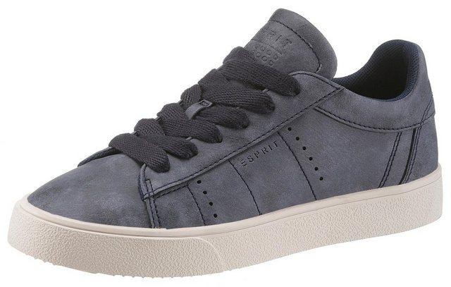 Damen Esprit Cherry Lu Sneaker im Basic-Look blau | 04060469735918