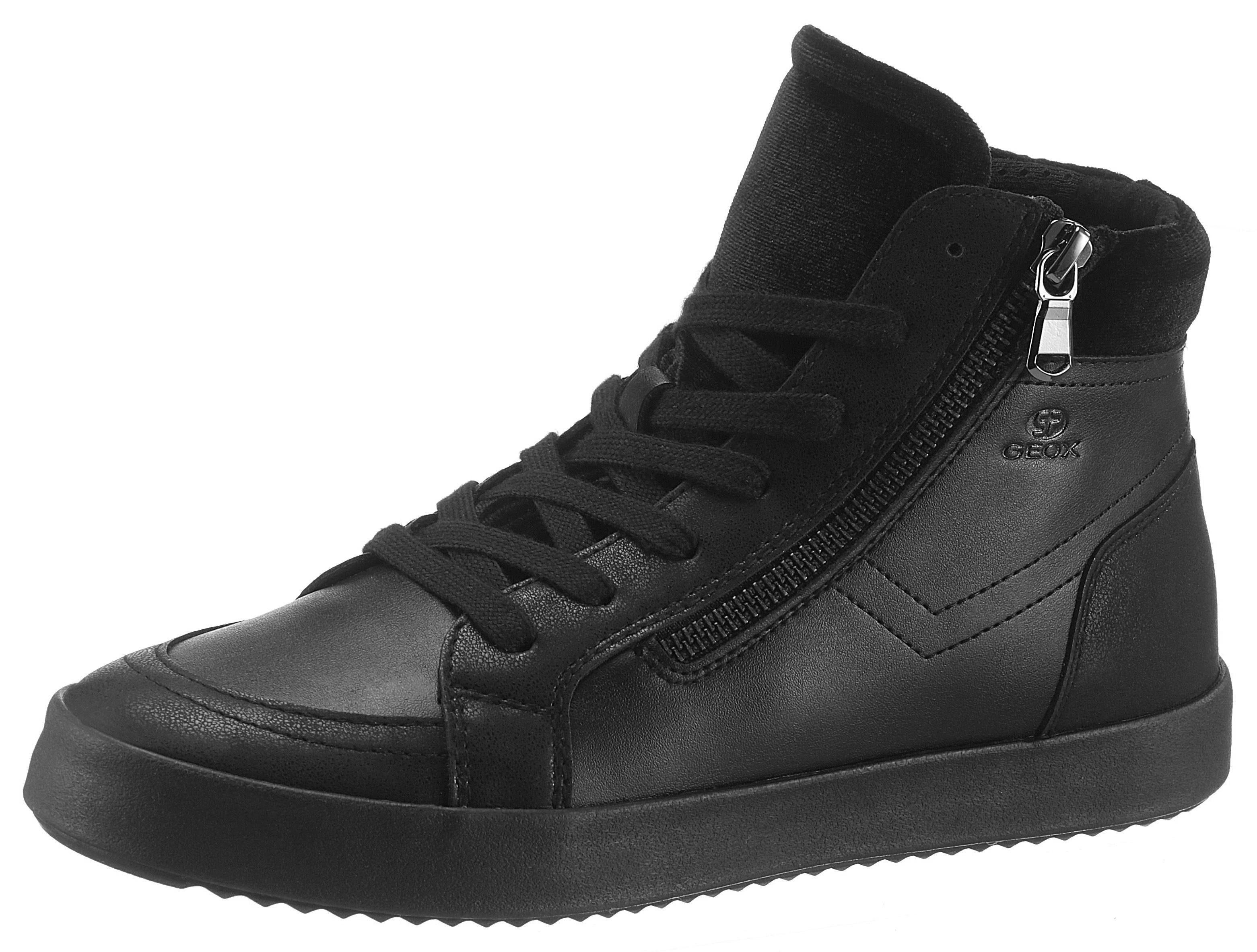 Geox Donna Blomiee Sneaker, mit Außen-Reißverschluss online kaufen  schwarz