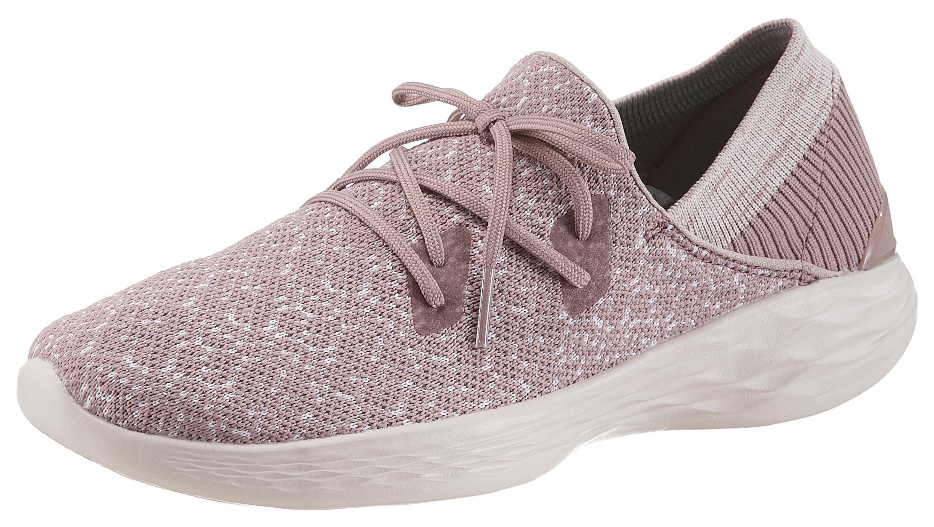 SKECHERS PERFORMANCE You - Exhale Slip-On Sneaker, mit aufgesetzter Schnürung online kaufen  mauve-meliert