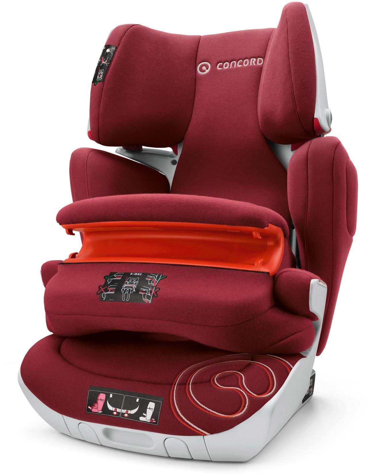 Concord Kindersitz, 9-36 kg, »Transformer XT Pro, Bordeaux Red«