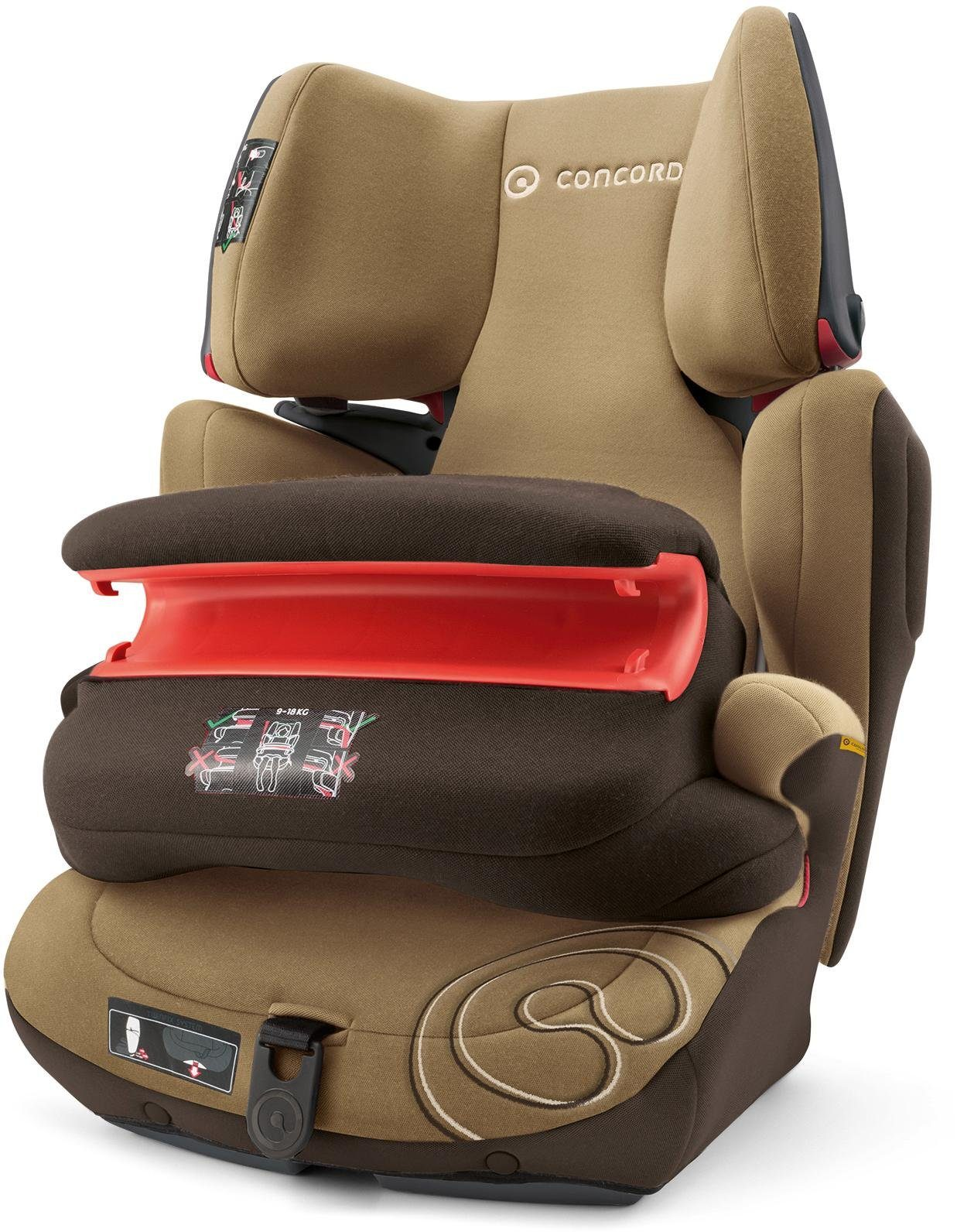 Concord Kindersitz, 9-36 kg, »Transformer Pro, Walnut Brown«