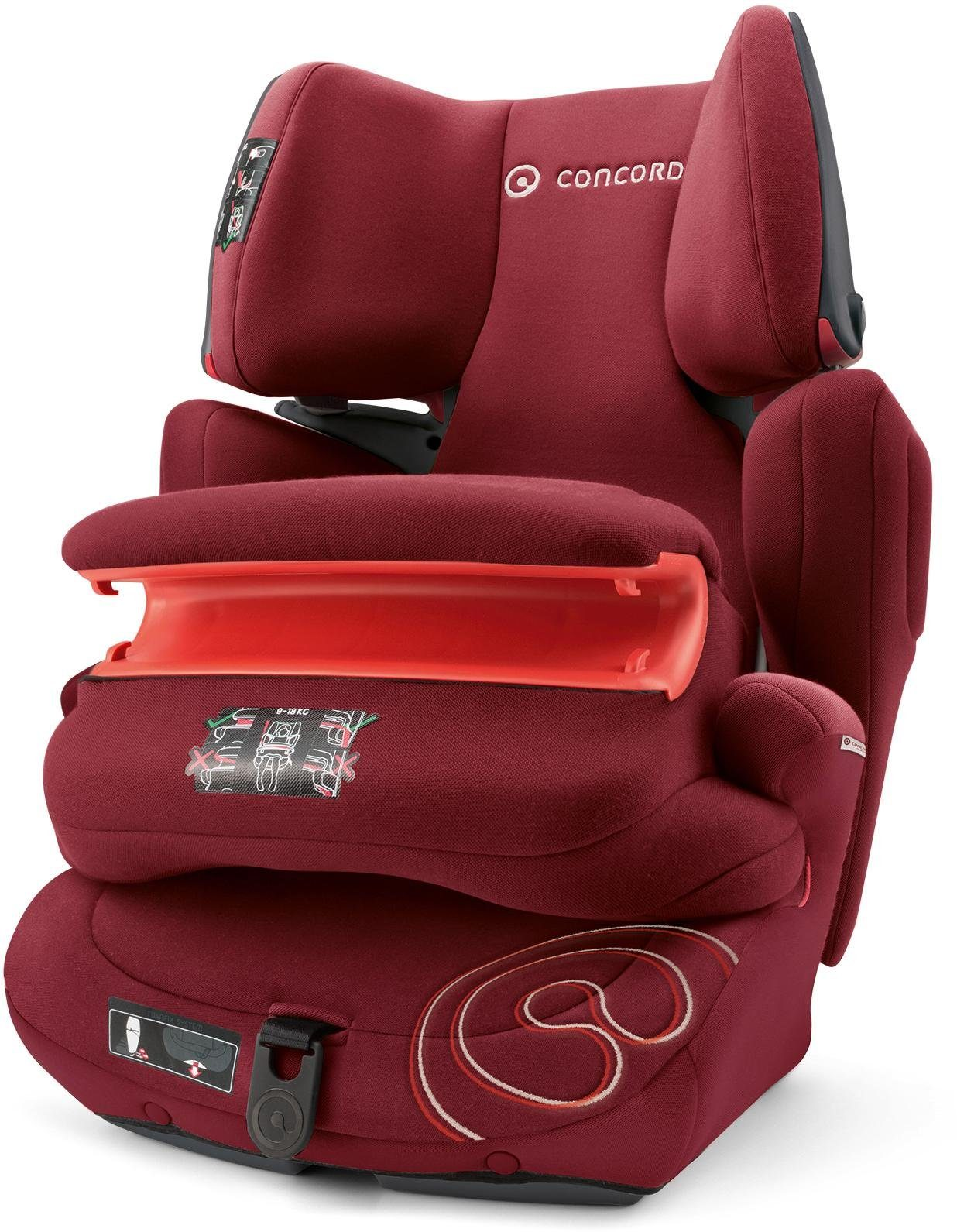 Concord Kindersitz, 9-36 kg, »Transformer Pro, Bordeaux Red«
