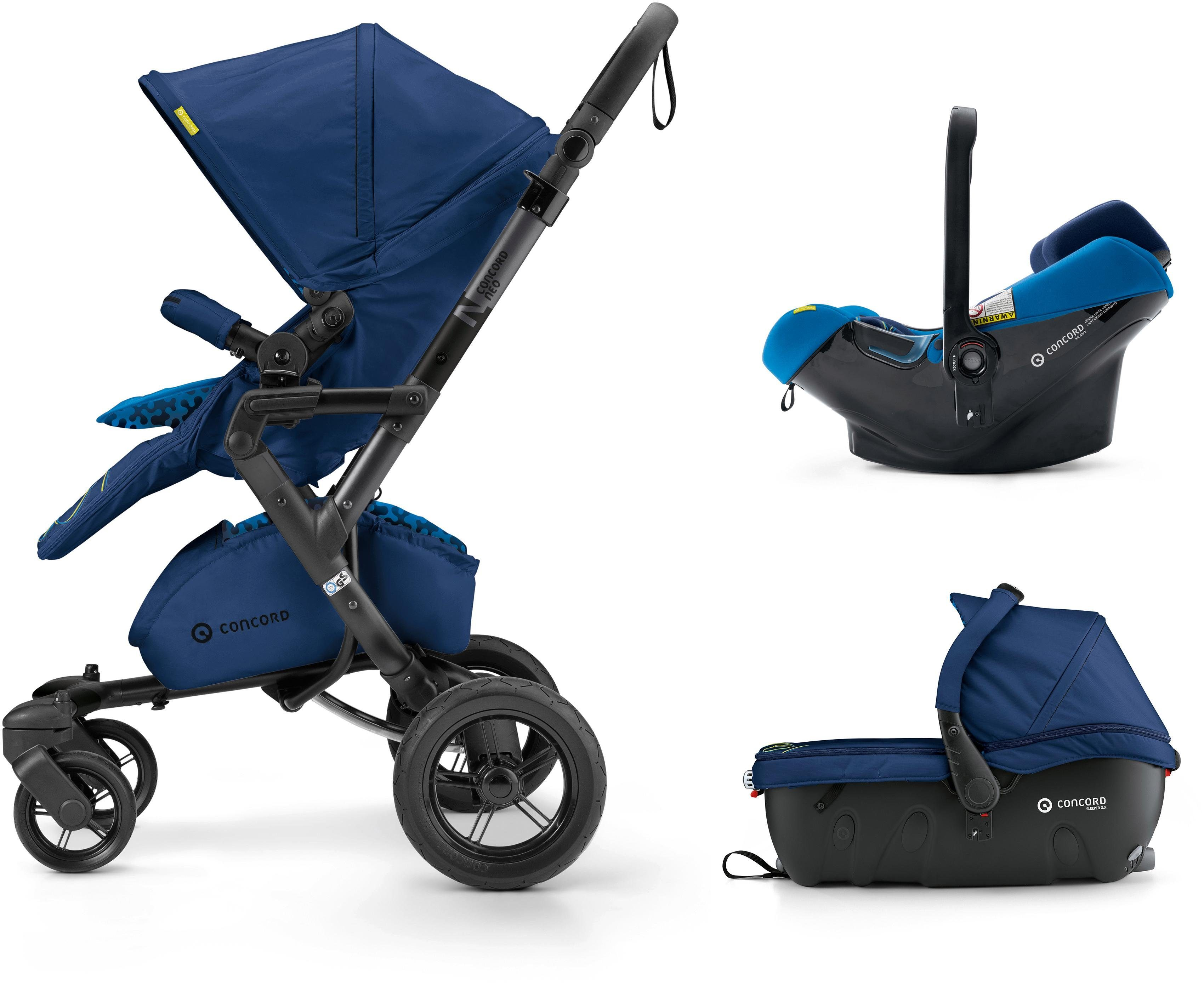 Concord Kinderwagen inkl. Babyschale, »Neo Travelset, Snorkel Blue«