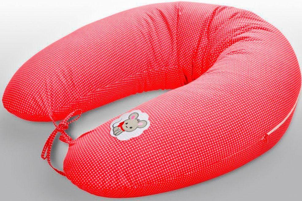 Stillkissen »Maus rot«, SEI Design, mit hochwertiger Stickerei