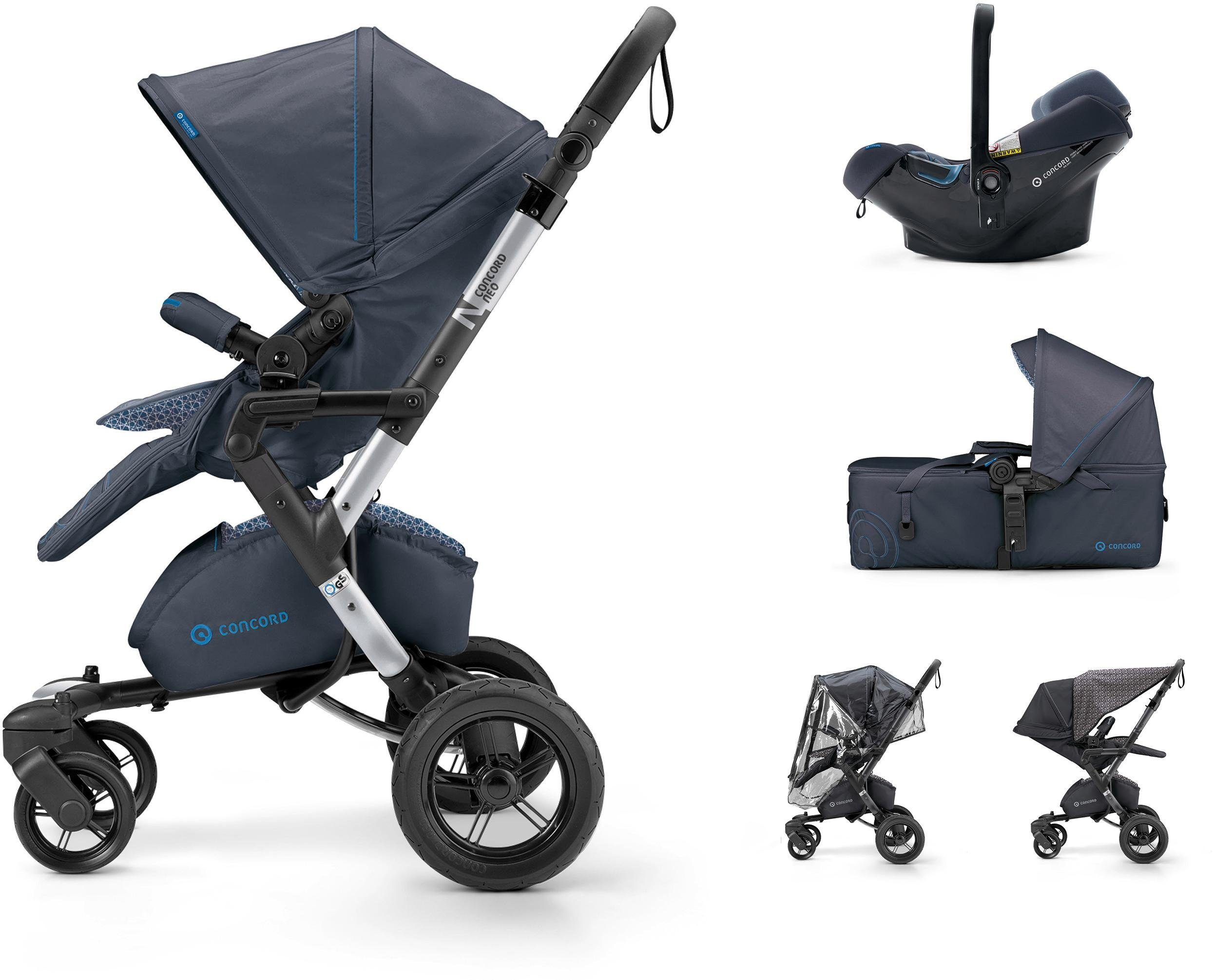 Concord Kinderwagen inkl. Babyschale, »Neo Mobilityset, Deep Water Blue«