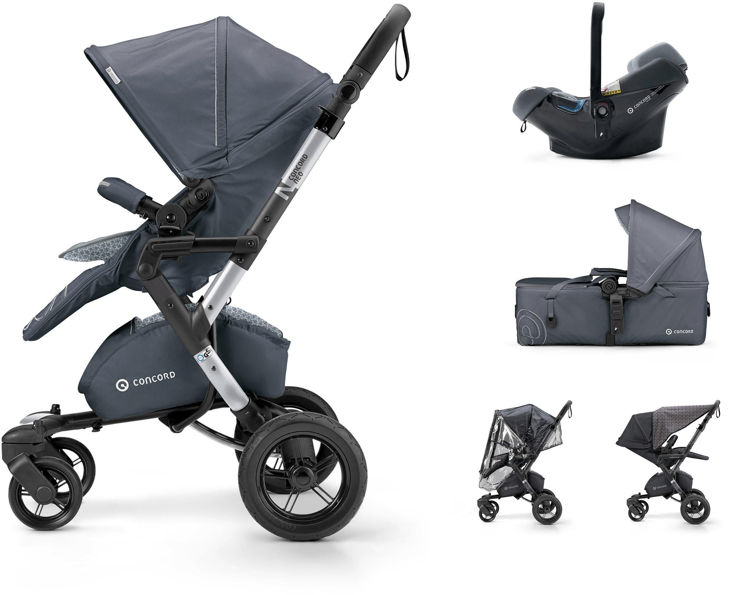Concord Kinderwagen inkl. Babyschale, »Neo Mobilityset, Steel Grey«