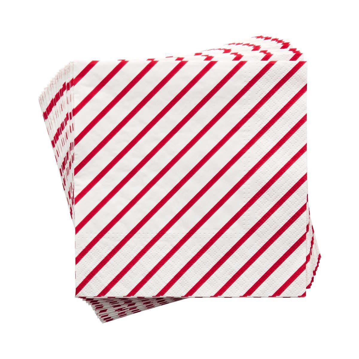 BUTLERS APRÈS »Papierserviette Candy Cane gestreift«