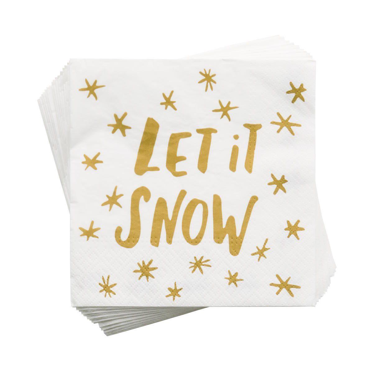 BUTLERS APRÈS »Papierserviette Let it Snow«