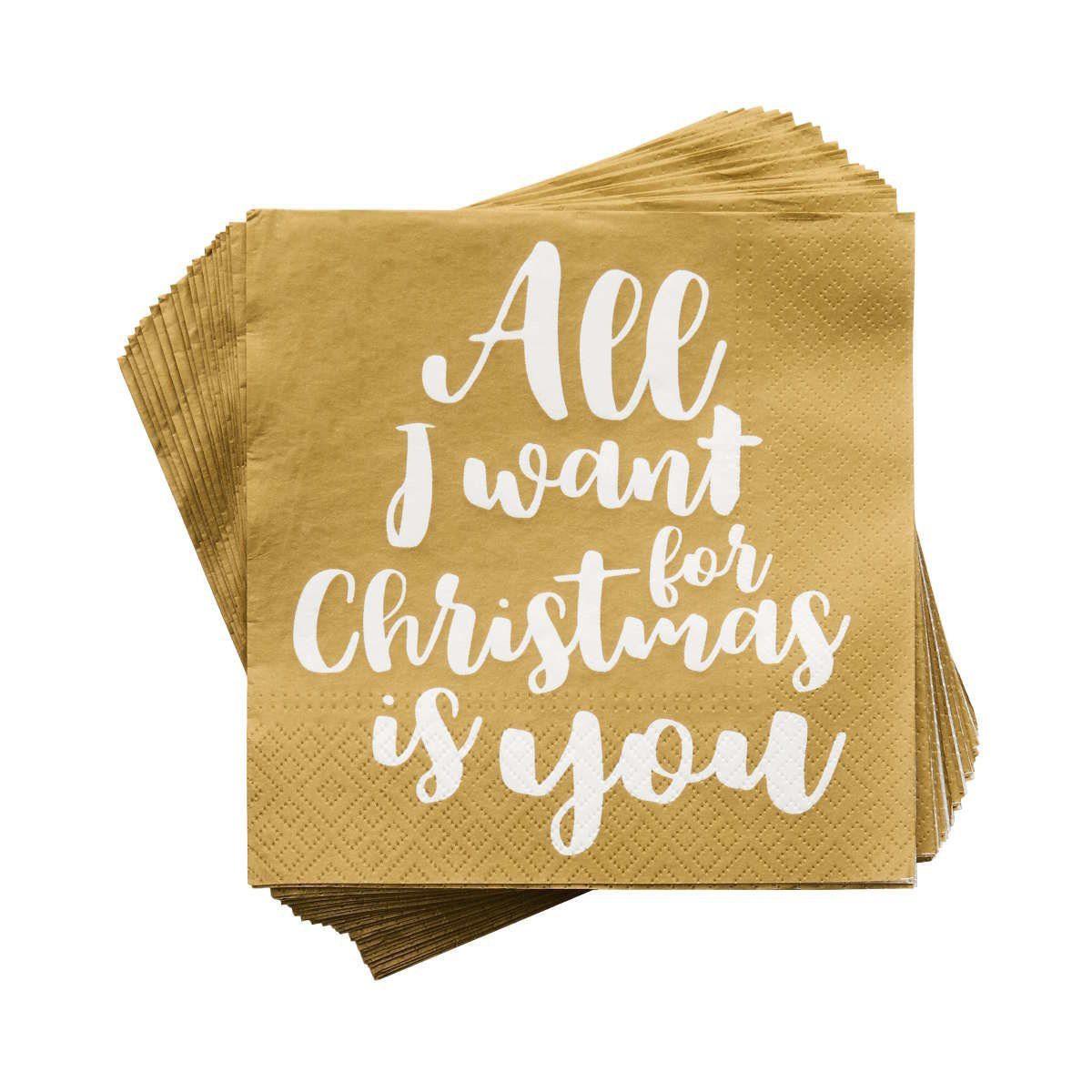 BUTLERS APRÈS »Papierserviette All I want for Christmas«