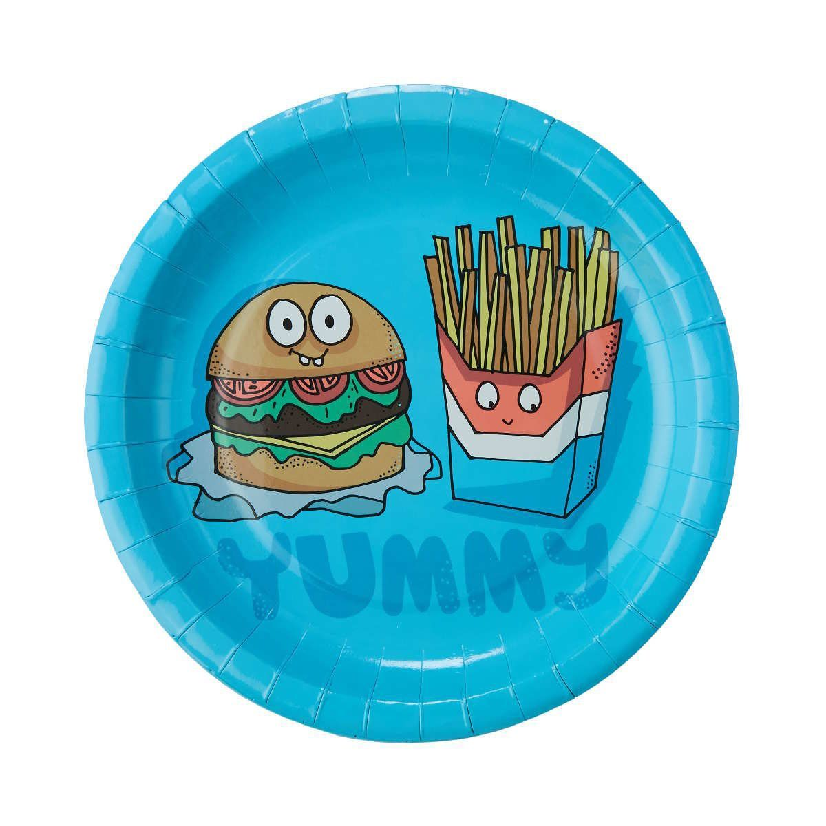 """BUTLERS FAST FOOD »Pappteller """"Yummy"""" Ø 23 cm«"""