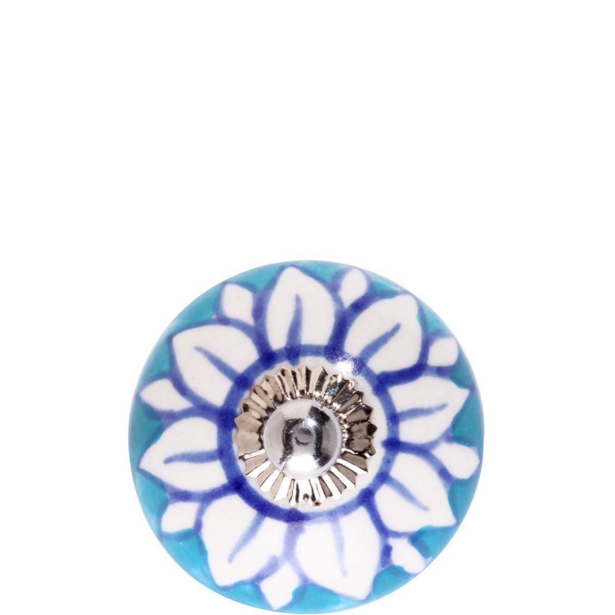 BUTLERS OPEN »Keramik Möbelknopf Blüte«