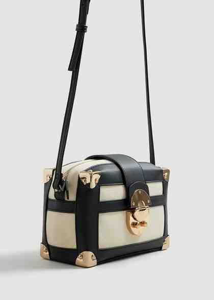 MANGO Zweifarbige Box-Bag
