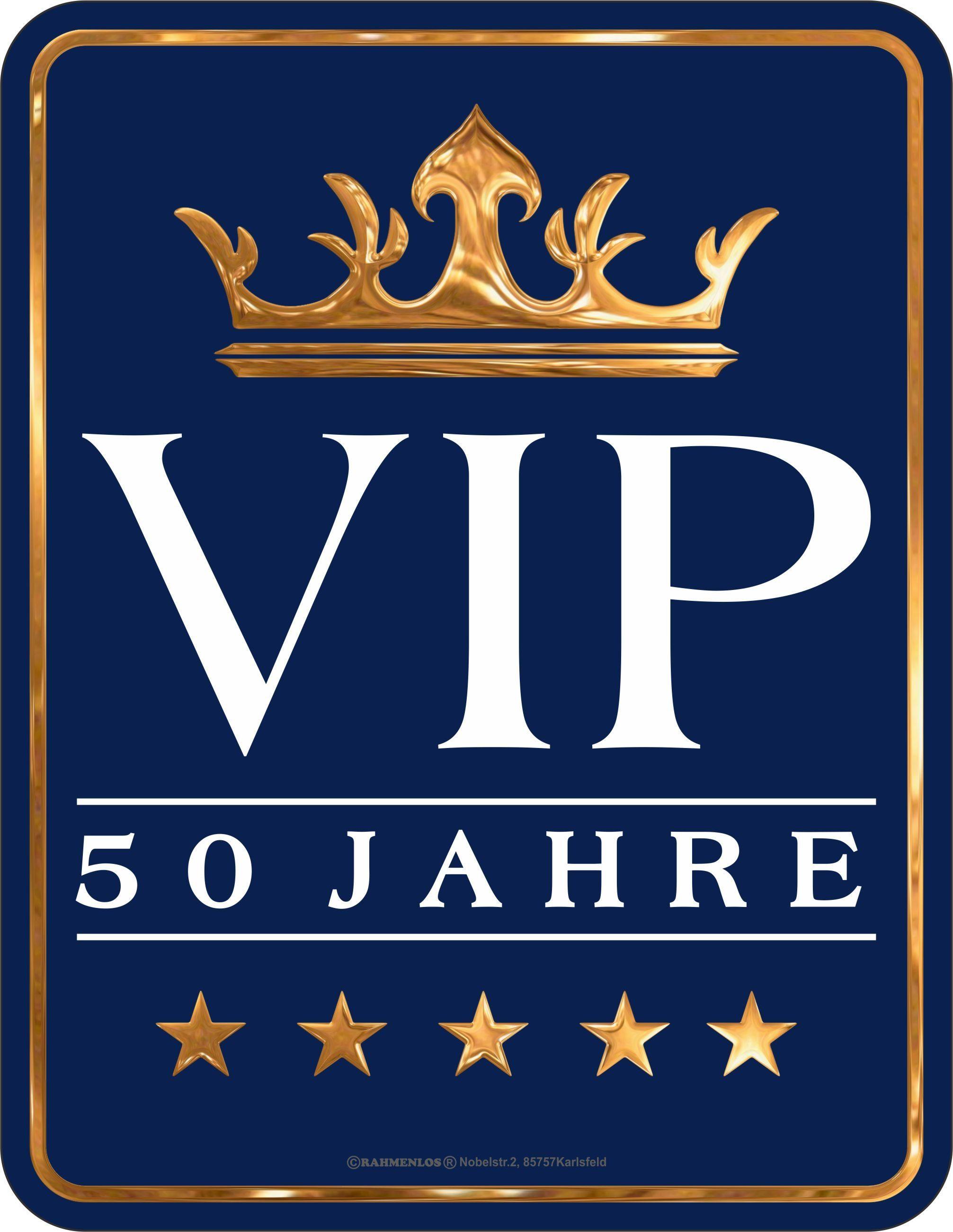Rahmenlos Blechschild zum 50. Geburtstag