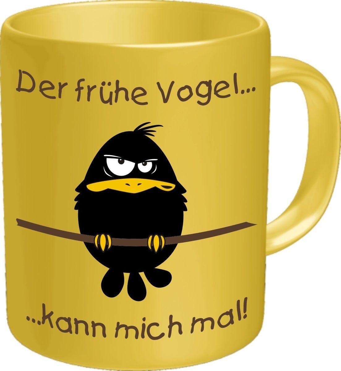 Rahmenlos Kaffeebecher mit lustigem Motiv im Geschenkkarton