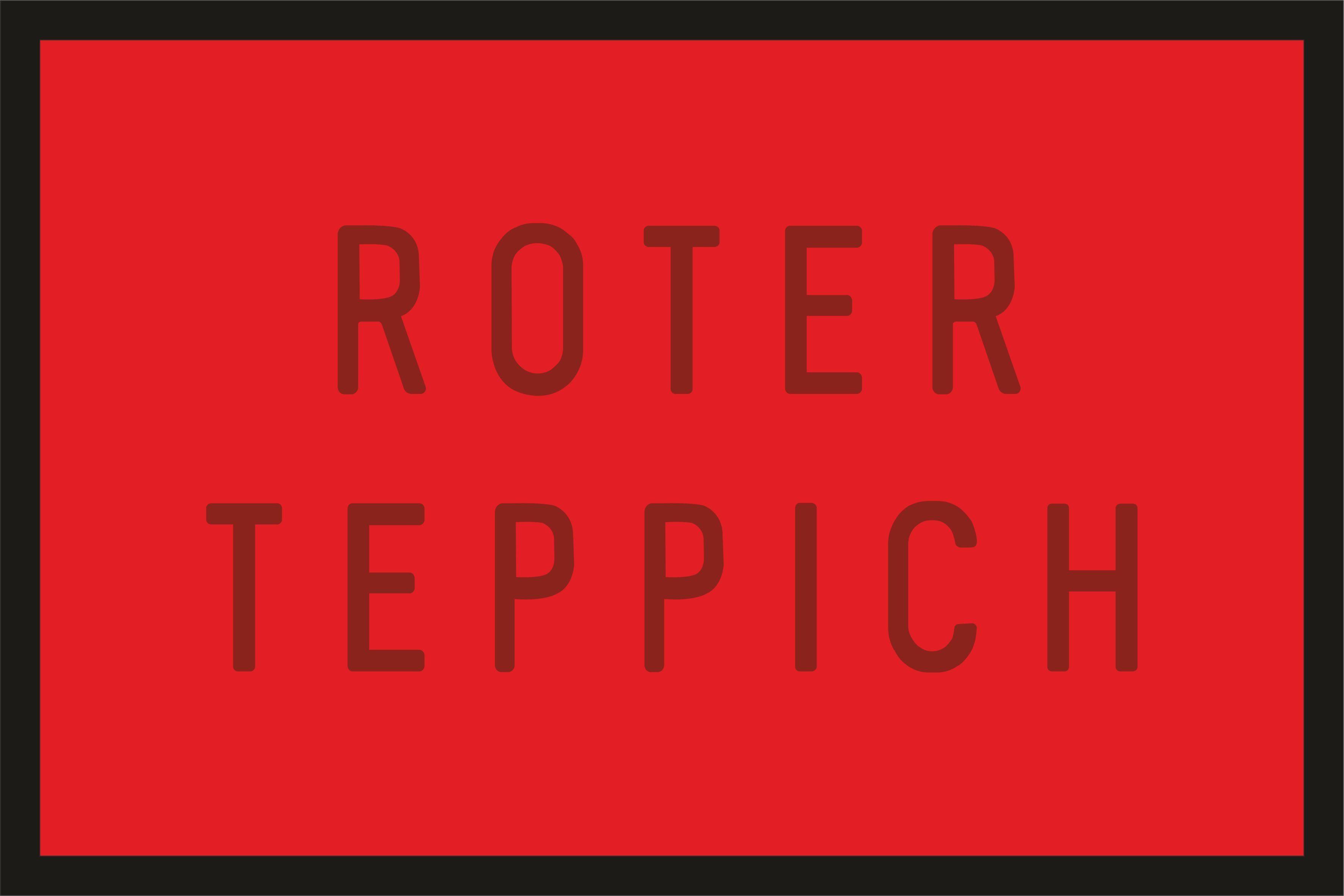 Rahmenlos Fußmatte mit Roter Teppich-Aufdruck