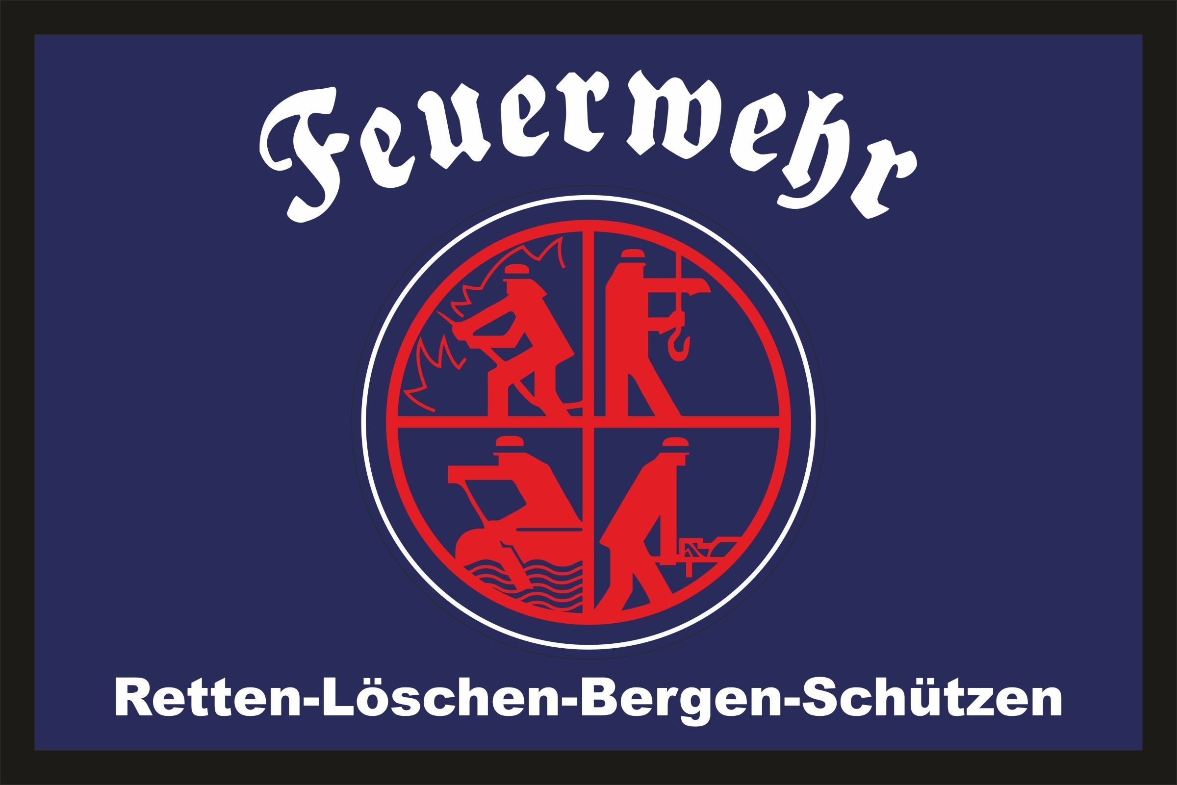 Rahmenlos Fußmatte mit Feuerwehr-Logo