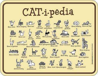 Rahmenlos Blechschild für den Katzenfreund