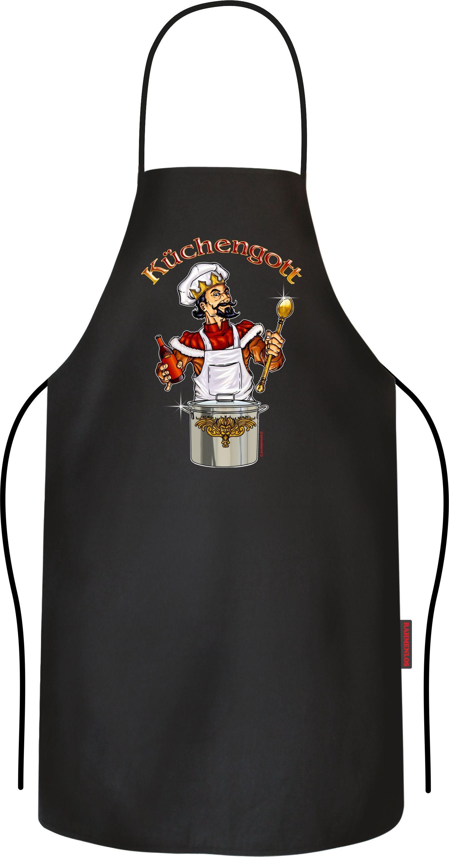Rahmenlos Kochschürze mit lustigem Koch-Motiv