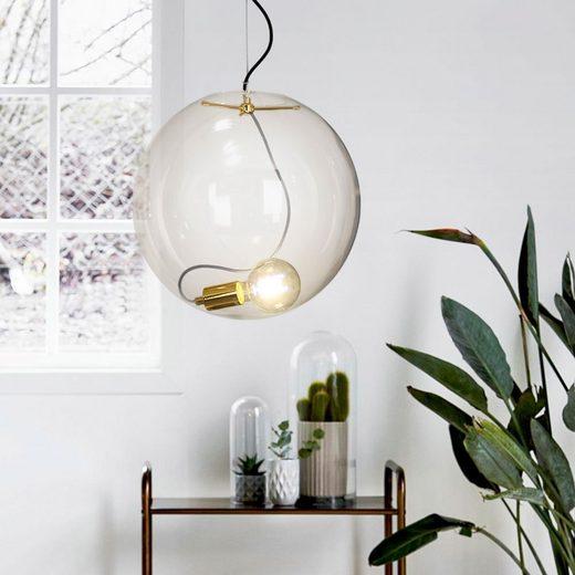 s.LUCE Pendelleuchte »Sphere 40 HL Glaskugel Goldfarben«