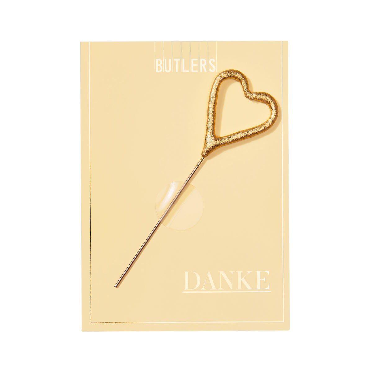 BUTLERS MAGIC MOMENTS »Mini-Grußkarte Danke mit Wunderkerze«
