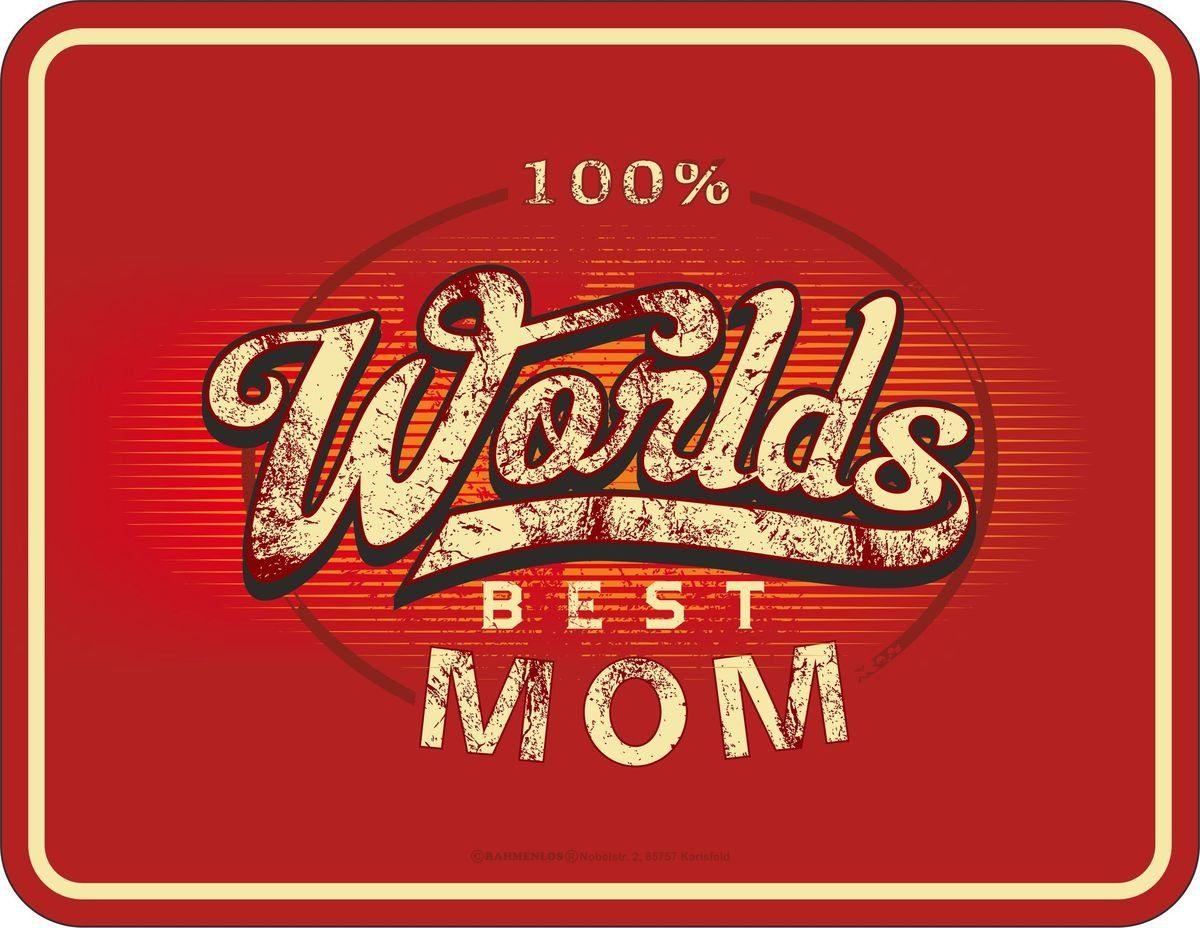 Rahmenlos Blechschild für die beste Mama der Welt