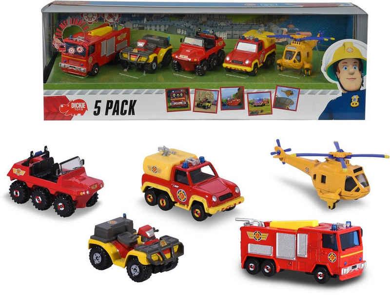 Dickie Toys Spielzeug-Auto »Feuerwehrmann Sam 5er Pack«